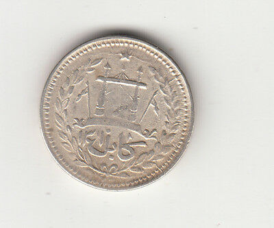 1301 Afghanistan One Rupee Silver Coin King Ammanullah.