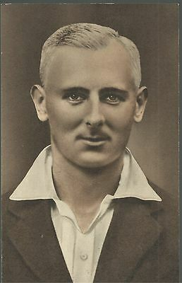 Hedley Verity Yorkshire Cricketer Cricket Photo Portrait Postcard