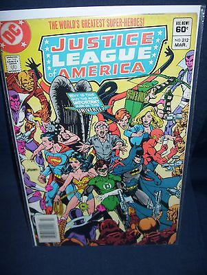 Justice League of America #212 DC Comics with Bag and Board 1983