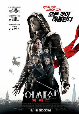 Assassin's Creed 2017 Korean Mini Movie Posters Movie Flyers (A4 Size)