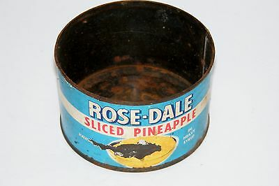 Vintage 1950/60s ROSE-DALE Sliced Pineapple Paper Label Can Libby McNeill Hawaii