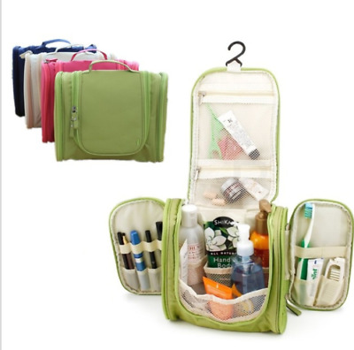 Travel Portable Makeup Toiletry Wash Cosmetic Pouch Organizer Hanging Makeup Bag
