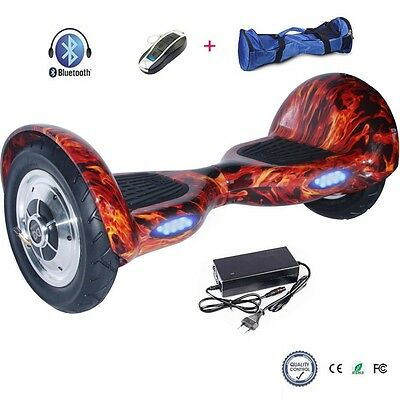 """10""""Gyropode Skateboard electrique trotinette scooter Bluetooth 2Roues sac"""