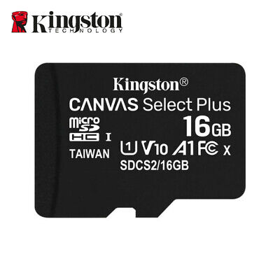 Kingston 16GB Micro SD SDHC Klasse 10 C10 Speicherkarte TF 80MB/s R mit Adapter