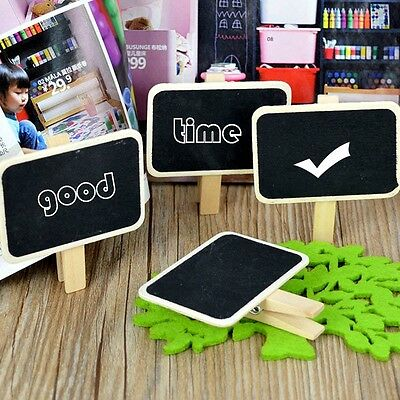 Clip-on Wooden Small Message Blackboard Chalkboard Photo Notes Decor Stationery