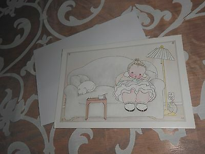 Michel & Co. Vintage Greeting Card- Miss You