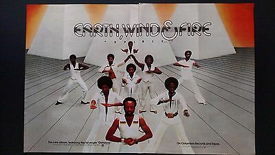 "Earth,wind & Fire ""getaway"" 1976, Rare Original Print Promo Poster Ad"