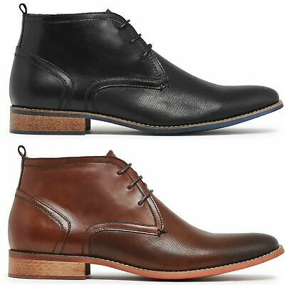 JULIUS MARLOW SURPASS Leather Boots Dress Work Formal Business Shoes Chukka New