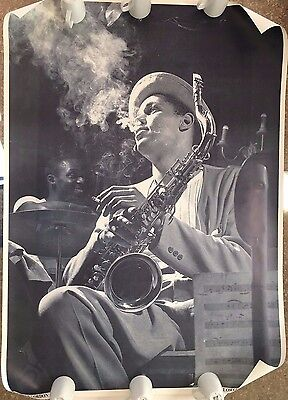 "DEXTER GORDON,'BLOWS HOT AND COLD' MEGA RARE  XL 39,5"" X 55,5""  1980's POSTER"