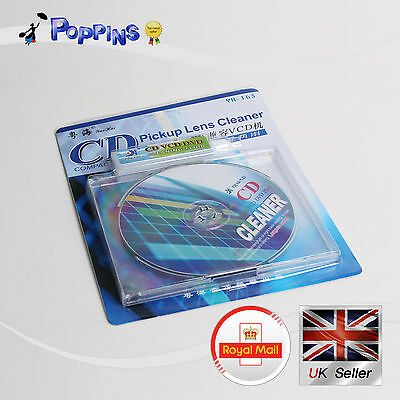 CD VCD DVD Drive Player Cleaner Pickup Lens Cleaner Cleanning Disc CD + Fluid