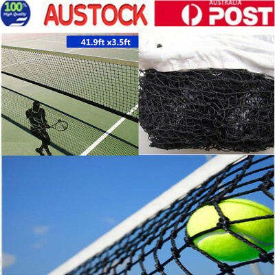 12.8M X 108cm Tennis Court Net 41.9ft Standard FULL Size Steel Cable Included