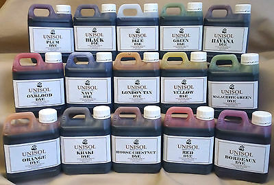 Unisol leather dyes for upholstery renovation, colourant, pigment, stain