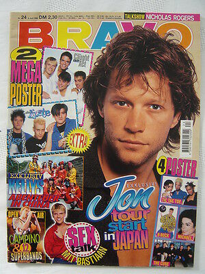 BRAVO 24 1996 Die Ärzte + Caught in the Act MEGA POSTER Michael Jackson The Cure