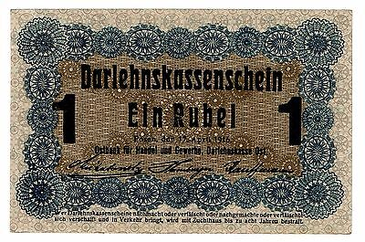Germany Latvia Lithuania Poland, 1 Rubel 1916 (B404)