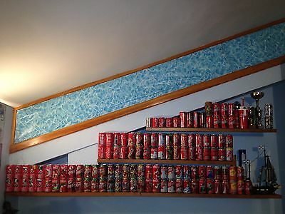 116 No. EMPTY Coca Cola Coke Tin Can Cans Vintage Collection Huge Lot