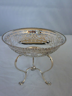 Quality Silver pierced sweet stand / dish by Elkington & Co Bham 1909