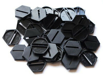 50 (Fifty) 25mm Hex Slotta Bases for Wargaming and Roleplaying New