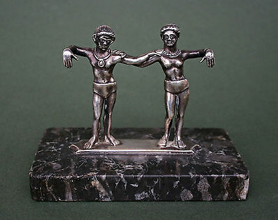 Antique Silver Cista Handle In Etruscan Style - Grand Tour  Superb Quality