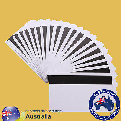 x50 HiCo 1-3 Magnetic Strip Blank PVC Credit Card for Card Printers