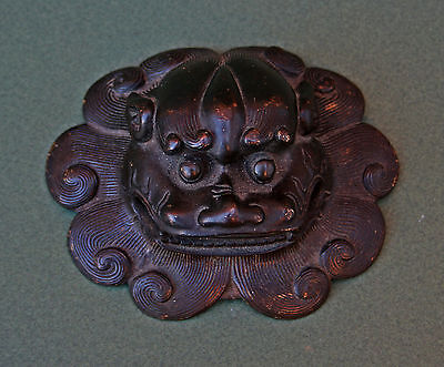 Antique Chinese Bronze Lion Mask - French Flea Market Find