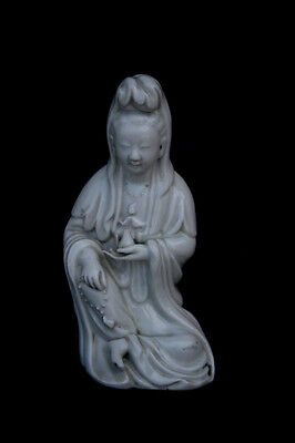 Antique Chinese Blanc De Chine Porcelain Guanyin - French Flea Market Find