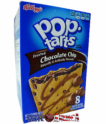Kelloggs Pop Tarts Frosted Chocolate Chip Toaster Pastries 8 PK 416g BB 22/11/16