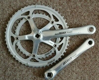 Campagnolo Veloce Chainset 53/39 172.5mm cranks 10speed ITALY