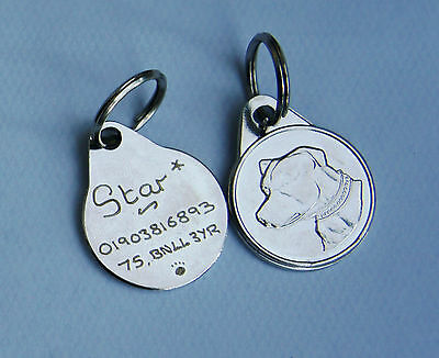 Dog Breed Tags 25Mm Hand Engraved Poodle, Staffie, Lab, German Shepherd, Collie