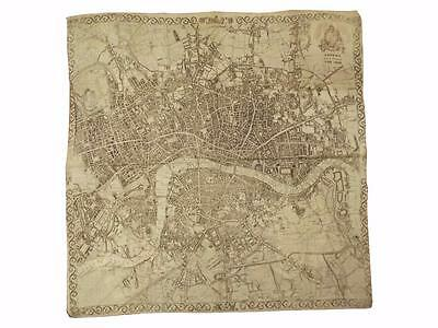 London Map printed on Cloth,1832,London,Map,Calico,Environs of London,Maps