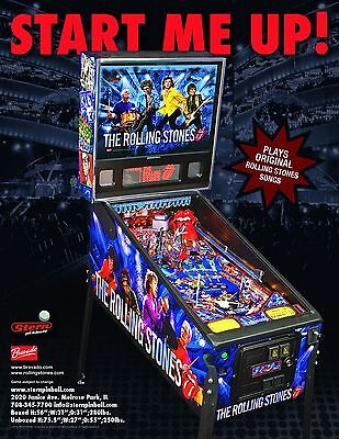 THE ROLLING STONES By STERN ORIGINAL NOS PINBALL MACHINE PROMO SALES FLYER