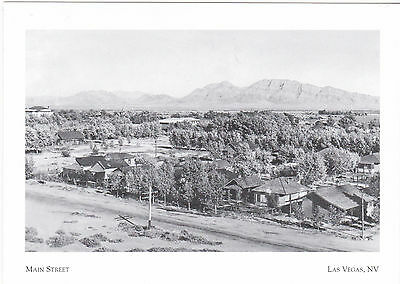 """*Postcard-""""Early Main Street (South of Freemont St) Las Vegas, Nevada"""" (A6-2)"""