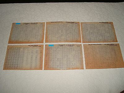 Toyota Carina E At, Ct, St Parts Microfiche Full Set Of 6 - Dated November 1992