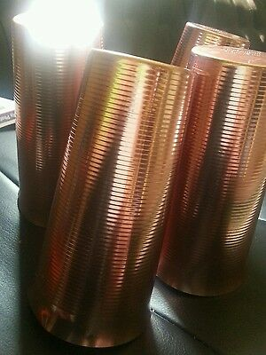 West Bend Aluminum Cups Vintage ribbed design made USA set of 4 Old Cups Metal