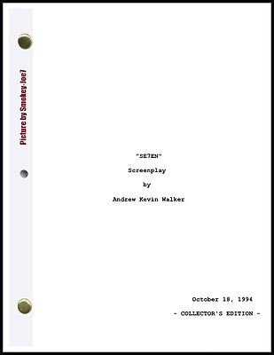 Se7en - THE MOVIE SCRIPT / SCREENPLAY