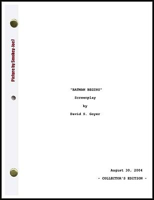 The Dark Knight Trilogy - THE MOVIE SCRIPT / SCREENPLAY