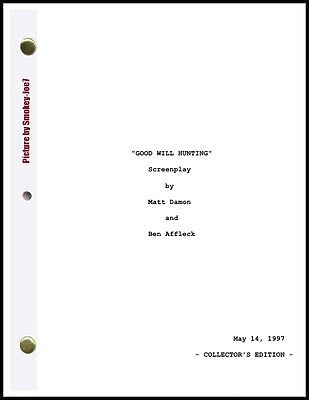 Good Will Hunting - THE MOVIE SCRIPT / SCREENPLAY