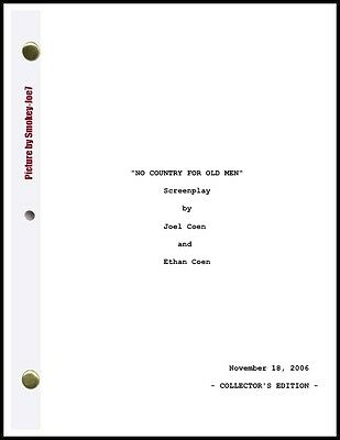 No Country for Old Men - THE MOVIE SCRIPT / SCREENPLAY