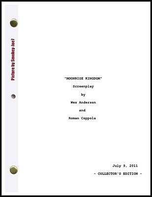 Moonrise Kingdom - THE MOVIE SCRIPT / SCREENPLAY