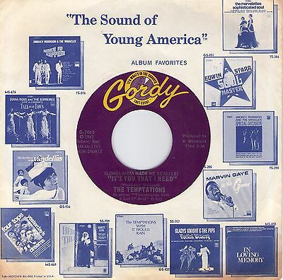 """Top Northern Soul (Hear!) THE TEMPTATIONS """"It's You That I Need"""" Gordy Original"""