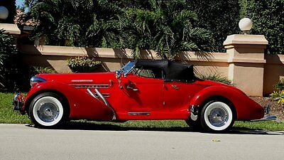 1978 Replica/Kit Makes AUBURN BOAT TAIL SPEEDSTER LEATHER 1978 AUBURN SPEEDSTER REPLICA OF A 1936 AUBURN BOAT TAIL GORGEOUS IN EVERY WAY