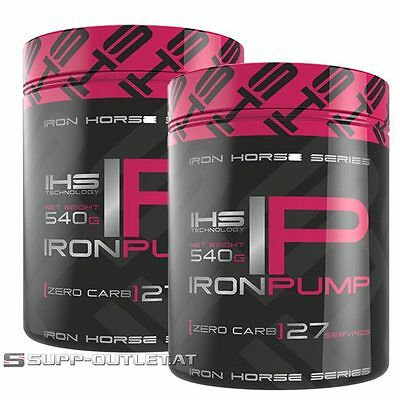 Iron Horse - Iron Pump - 540g/2x540g Pre-Workout Pump,Booster, Muskelaufbau Pump