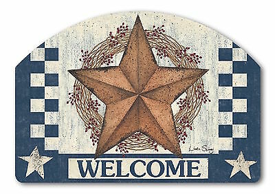 Blue Barn Star Primitive Interchangeable Yard DeSigns Insert Welcome Magnet