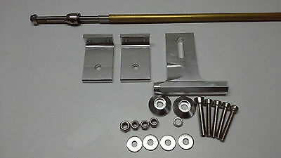 """Aluminum Strut with 3/16"""" (4.78mm) cable shaft 600mm FULL Set RC BOAT"""