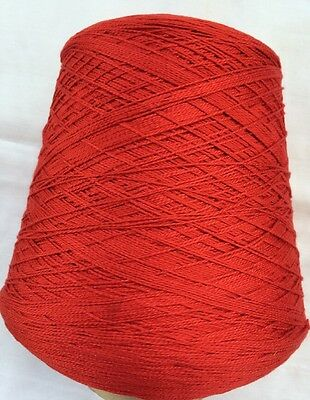 Sunray Yarn 100 % cotton, color Scarlet, weight 980gr or 2lb 2oz