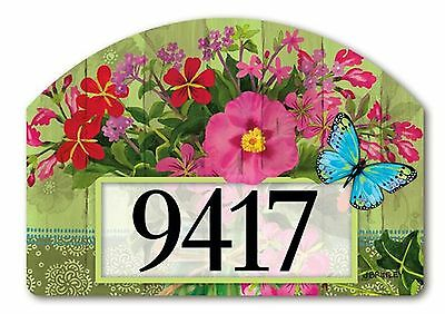 Mason Jar Bouquet Spring Yard DeSigns Magnetic Insert Floral Address Marker