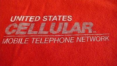 Vtg. Us Cellular Mobile Telephone Network Large Red T-Shirt Made In Usa