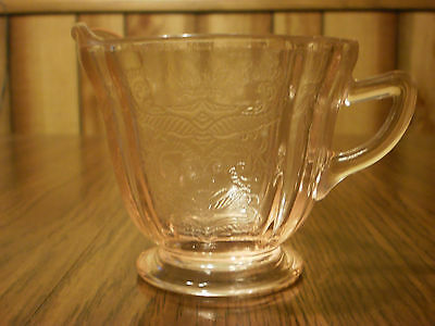 Pink Depression Madrid Federal Glass Creamer Cup
