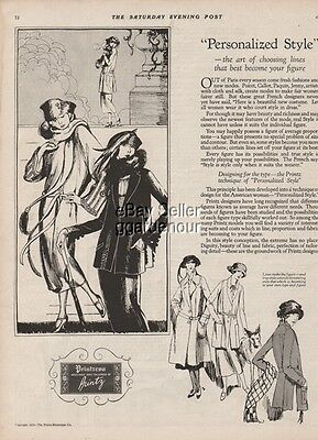 1922 Printz Biederman Co Womens Printzess Dress Vintage Fashion Art Ad