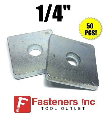 """(#4600) 1/4"""" X 1-5/8 X 1-5/8 Square Washers for Unistrut Channel (50 BOX)"""