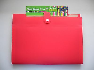 7 Pocket Expandable Section File A4 Organizer for Cards, Receipt, Documents, etc